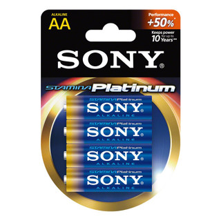 Sony Stamina Platinum AA Batteries - 4 pack