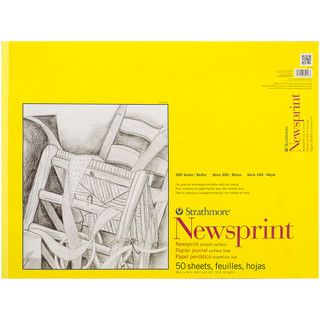 Newsprint Rough Surface 18 x 24 in