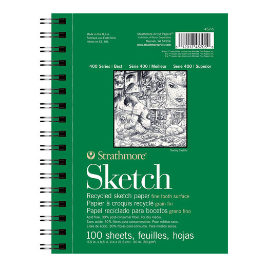 """Strathmore Recycled Sketch Paper - 5.5"""" x 8.5"""""""