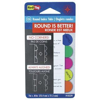 """RediTag 1"""" Round Index Tabs - 120 C"""