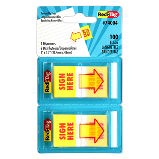 RediTag Removable Flags Yellow 100