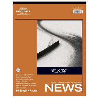 """Pro Art Rough Newsprint - 9"""" x 12"""""""