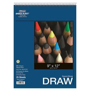 Drawing Pad 25 sheets 9 x 12 inches