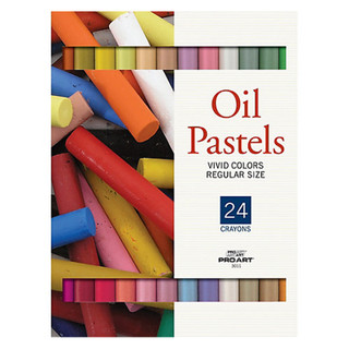 24 Pro Art Oil Pastels - Vivid Colors - Regular Size
