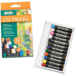 Pro Art Oil Pastels - 12 Vivid Colo