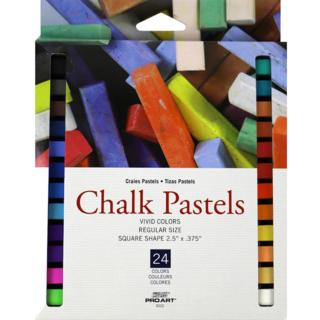 Pro Art Chalk Pastels - 24 Colors
