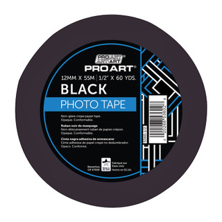 "Pro Art Black Photo Tape - 1/2"" x 60 yards"
