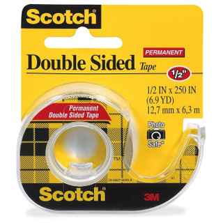 Scotch Permanent Double Sided Tape 1/2X250 in.