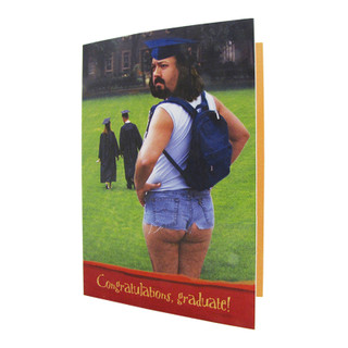 Man in Shorts Graduation Card