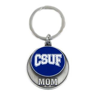 Round Medallion Mom Key Ring - Navy