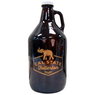 64oz Amber Glass Growler