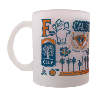 Julia Gash Frosted Glass Mug - 15 oz. - 1