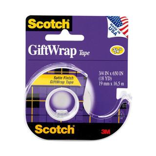 Scotch Satin Tape 3/4x650 in.