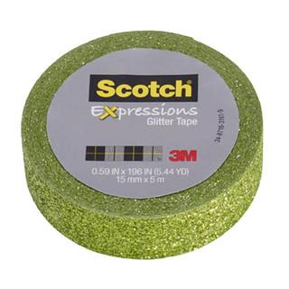 Scotch Expressions Glitter Tape - Green