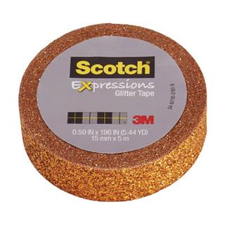Scotch Expressions Glitter Tape - Orange