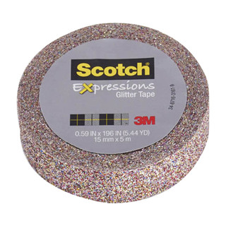 Scotch Expressions Glitter Tape - Multi-colored