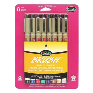 Pigma Brush Pens - 8 Pack - Assorte