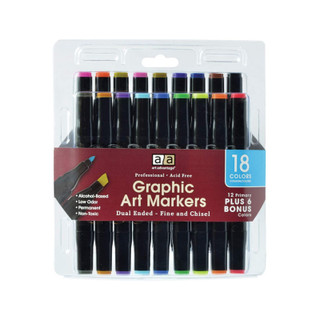 Graphic Art Marker Set - 18 Count