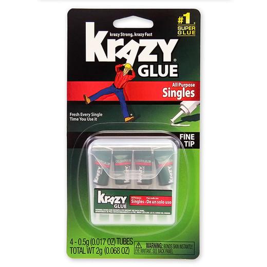 Krazy Glue All Purpose Singles - 4 pack
