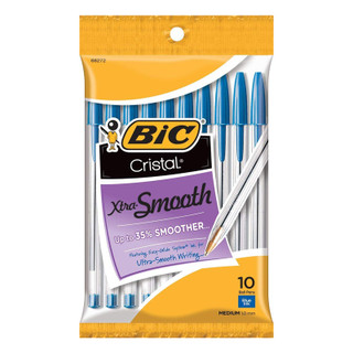 Bic Xtra Smooth Pens - Blue - 10 Pack