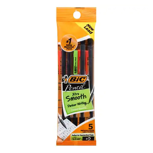 Bic Pencil Xtra Smooth Mechanical Pencils - 5 Pack