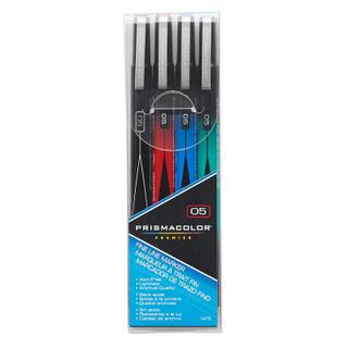 Prismacolor Fine Line Marker - 4 pack - Assorted Colors