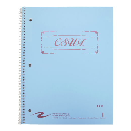CSUF Cotton Candy Notebook - 1 Subject - blue