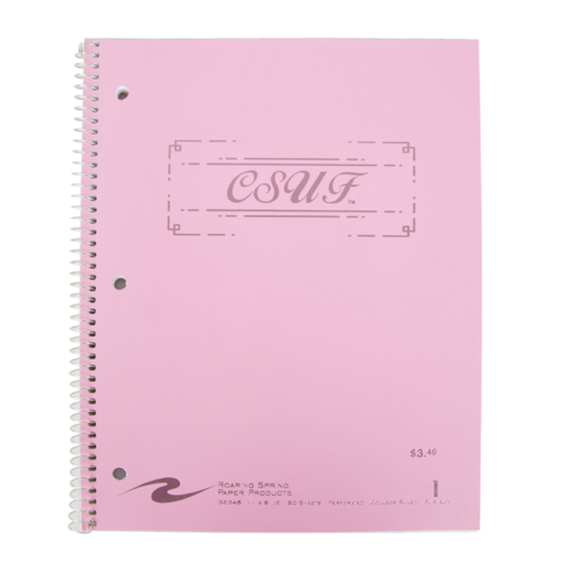 CSUF Cotton Candy Notebook - 1 Subject - Pink