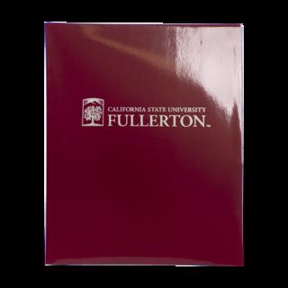 CSUF Emblem Folder - Maroon