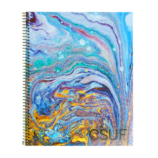 CSUF Paint Pour Notebook - 1 Subject