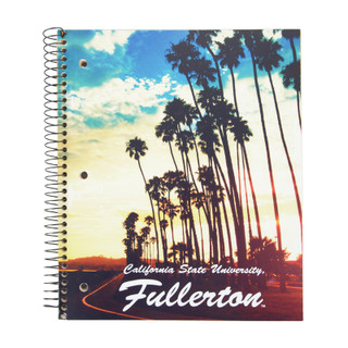 Cal State Fullerton Sunset Notebook - 3 Subject