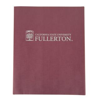 CSUF Linen Portfolio- Maroon