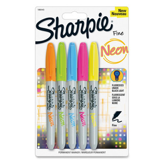 Sharpie Permanent Marker - Neon - 5 Pack