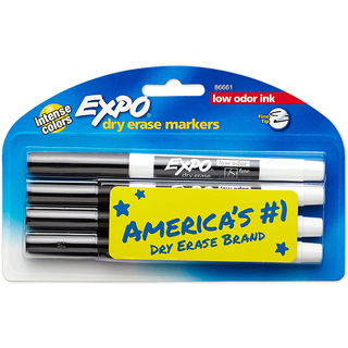 Fine Tip Dry-Erase Markers 4 Pk
