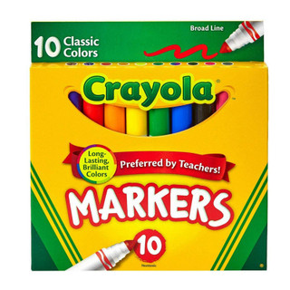 Crayola Markers - 10 Pack - Assorted Classic Colors