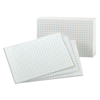 "Oxford Graph Index Cards - 100 count - 3"" x 5"""