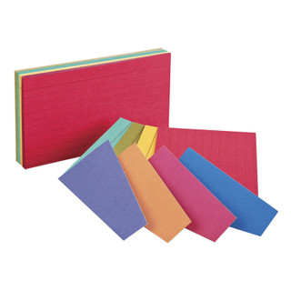 Oxford Ruled Index Cards - Two-Tone