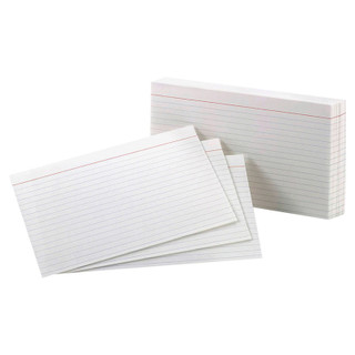 "Oxford Ruled Index Cards - 100 count - 5"" x 8"""