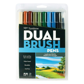 Tombow Dual Brush Pens - 10 Pack - Landscape Palette