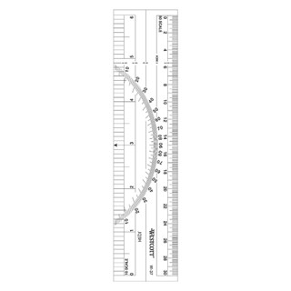 Westcott Protractor and Ruler - 6""