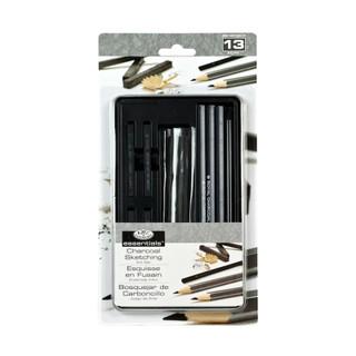 13-Piece Charcoal Sketching Art Tin
