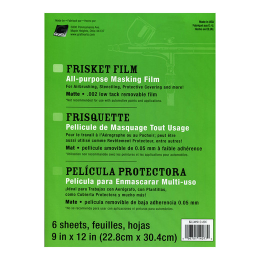 "Grafix All Purpose Frisket Film - 9""x12"""