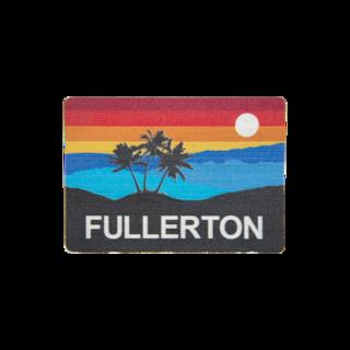 Fullerton Sunset Wooden Magnet