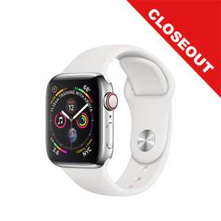 Apple Watch Series 4 GPS + Cellular - Silver - 40mm - Closeout