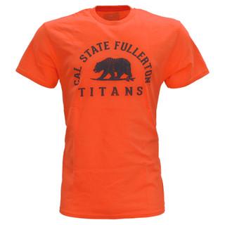 Let's Go Surfing Titans Tee - Orange - S