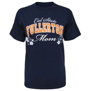 Women's Cal State Fullerton Hibiscus Mom Tee - Navy