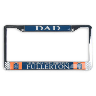 Chrome Dad License Frame