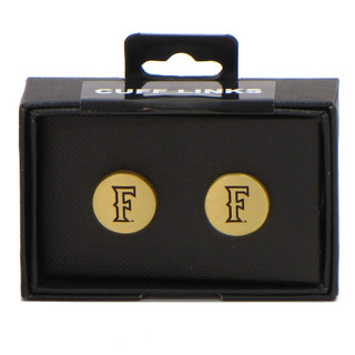 "Fullerton ""F"" Cuff Links - Gold"