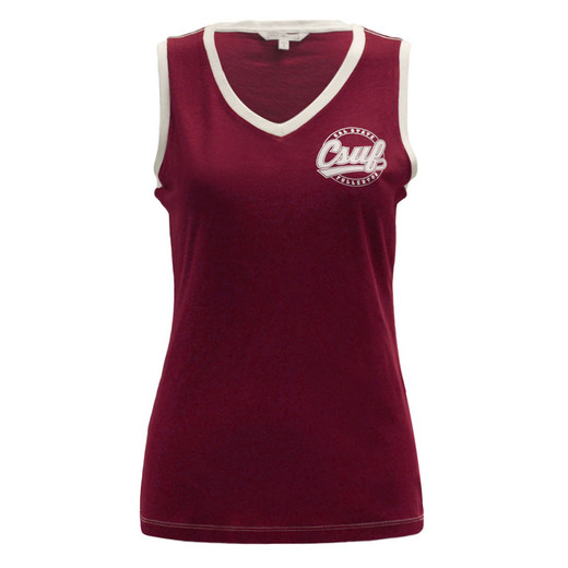 CSUF Retro Tank Top - Maroon