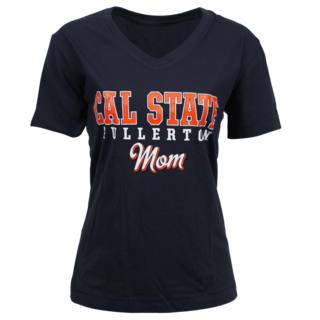 Cal State Fullerton Mom V-Neck